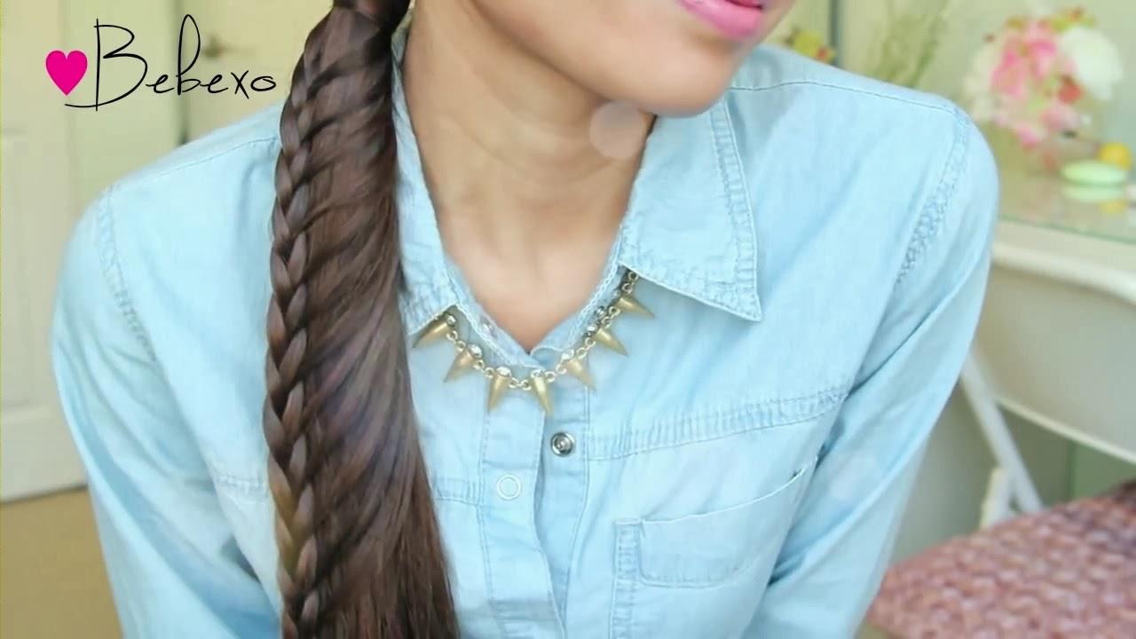 Cara Menata Rambut Panjang Membuat Kepang Rambut Ekor